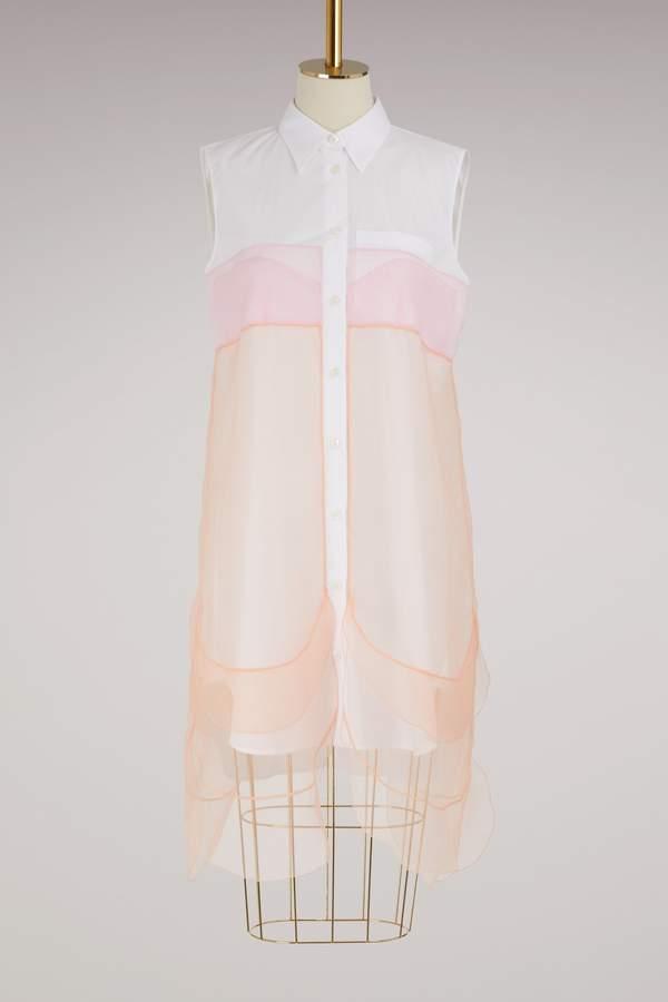Prada Short sleeves layered shirt-dress