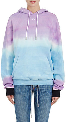 Off-White c/o Virgil Abloh Women's Tie-Dyed Cotton Terry Hoodie $575 thestylecure.com