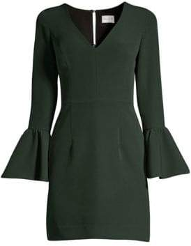 Milly Italian Cady Morgan Bell-Sleeve Sheath Dress