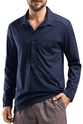 Hanro Filippo Soft Jersey Shirt, Night $142 thestylecure.com