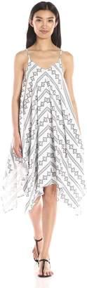Blu Pepper Women's Woven Print Sleeveless Handkerchief Dress