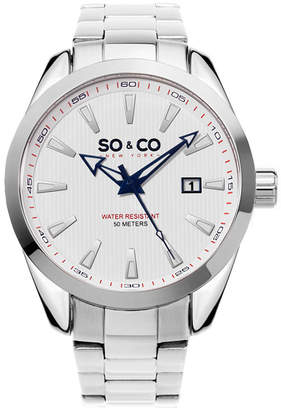 Co SO & Ny Men'S Madison Stainless Steel Bracelet Dress Quartz Date Watch J154P16