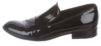 Celine Patent Leather Round-Toe Loafers