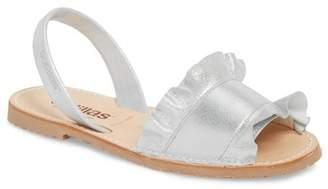 solillas Frilled Flat Sandal (Women)