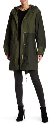 French Connection Mili Canvas Long Sleeve Summer Parka $248 thestylecure.com