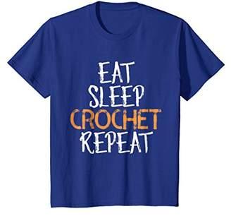 Eat Sleep Crochet Repeat T-Shirt
