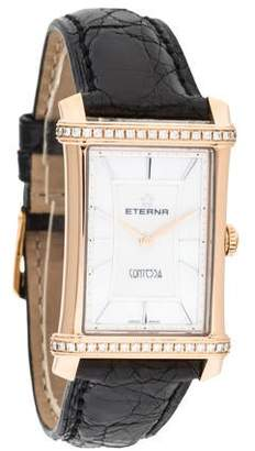 Eterna Contessa Watch w/ Crocodile Strap w/ Tags