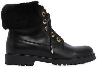 Aquazzura Nappa Leather Boots W/ Lapin Fur