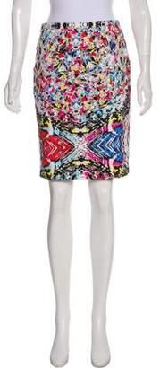 T Tahari Printed Knee-Length Skirt