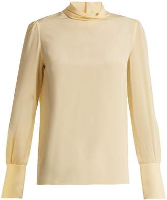Chloé High-neck crepe de Chine blouse
