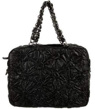 Chanel Draped Bowling Bag Black Draped Bowling Bag