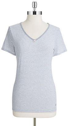 Nautica Striped Short Sleeve Tee $32 thestylecure.com