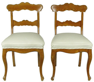 One Kings Lane Vintage 19th-C. Biedermeier Side Chairs - Set of 2 - The Barn at 17 Antiques