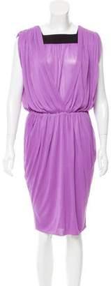 Vionnet Pleated Knee-Length Dress w/ Tags