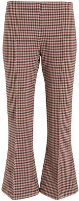 Smythe Check Print Kick Flare Pants