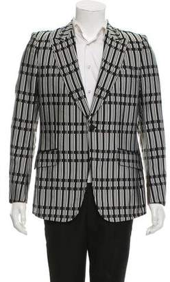 Gucci Silk Pattern Blazer