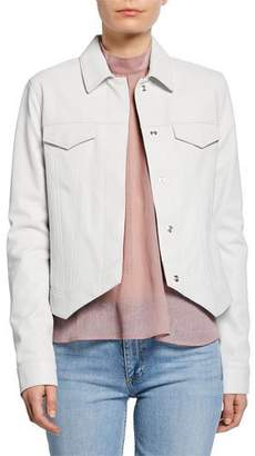 RtA Jack Asymmetrical Leather Jacket