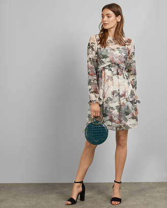 Ted Baker REMORRA Willow ruffle detail long sleeved dress