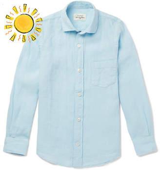 Hartford Boys Ages 2 - 12 Slub Linen Shirt