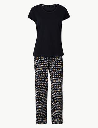 12af4aa900 Marks and Spencer Pure Cotton Butterfly Pyjama Set
