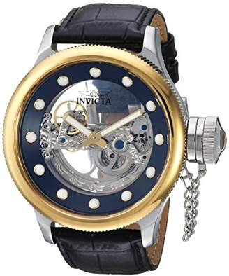 Invicta Men's 'Russian Diver' Automatic Stainless Steel and Leather Casual Watch