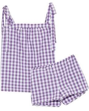 Three J NYC Gingham Cotton Top And Short Pajama Set
