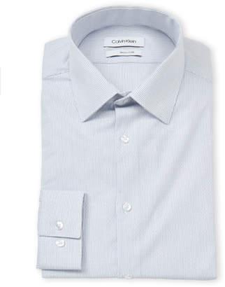 Calvin Klein Slim Fit Thin Stripe Dress Shirt