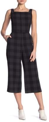 Dress Forum Check Print Culotte Leg Jumpsuit