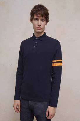 French Connenction Parched Pique Stripe Polo Shirt