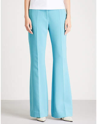 Victoria Beckham Victoria Slim-fit high-rise crepe trousers