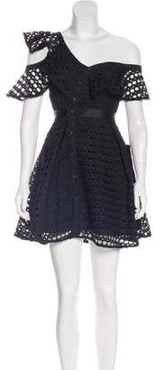 Self-Portrait Lace Frill Mini Dress w/ Tags