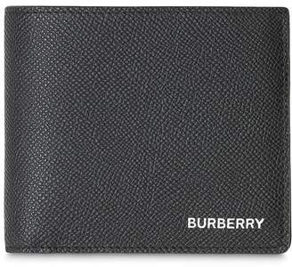 Burberry Grainy Leather Bifold Wallet with ID Card Case