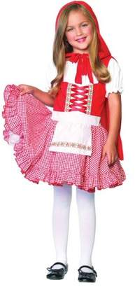 Leg Avenue 2PC. Lil Miss,peasant apron dress and matching cape, Small, Red/White