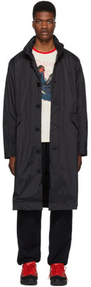 Opening Ceremony Black Hooded Trench Coat