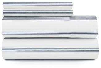 Pendleton Ticking Stripe Flannel King Sheet Set - Ivory