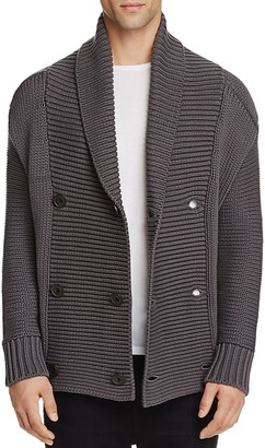 Vince Double Breasted Shawl Collar Cardigan Sweater $525 thestylecure.com
