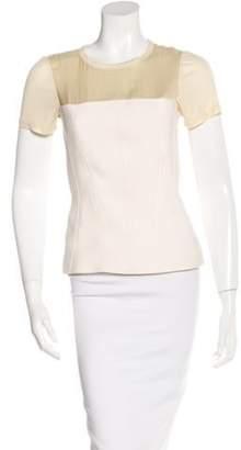 Reed Krakoff Virgin Wool Short Sleeve Top wool Virgin Wool Short Sleeve Top