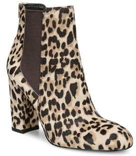 Sam Edelman Leopard Calf Hair Booties