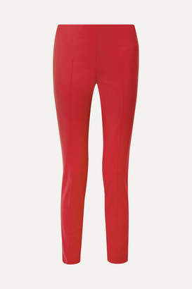 Akris Melissa Stretch Cotton-blend Slim-leg Pants