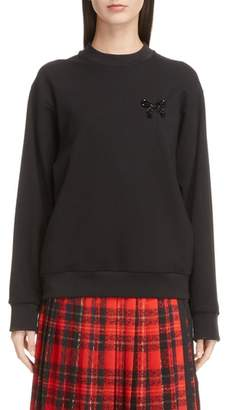 Simone Rocha Beaded Bow Sweatshirt