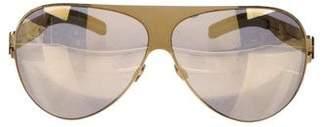Mykita Mirrored Aviator Sunglasses