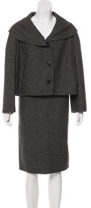 Christian Dior Virgin Wool & Angora Skirt Suit