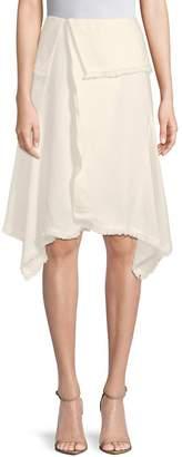 Moon River Women's Foldover Knee-Length Skirt