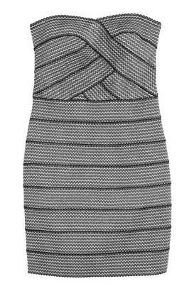 H&M Glittery Bandeau Dress - Black/silver-colored - Women