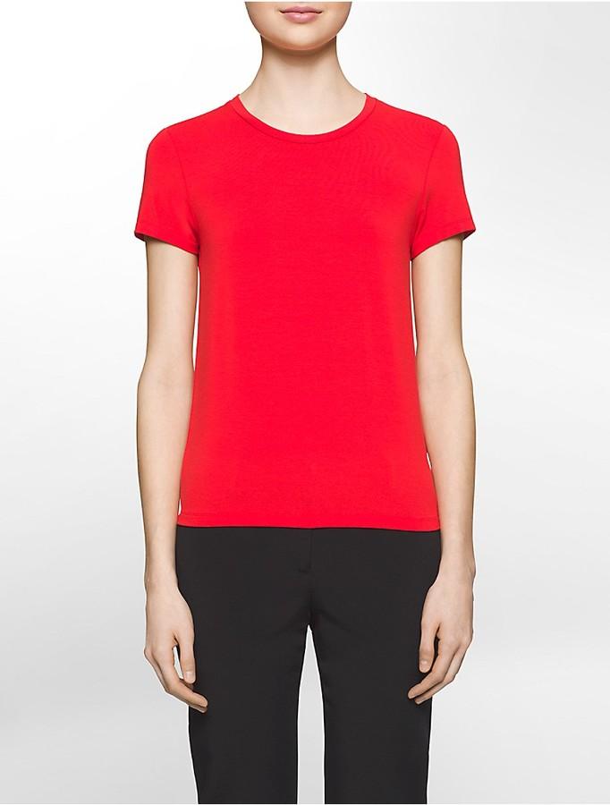 Calvin KleinPlatinum Stretch Jersey Short-Sleeve T-Shirt