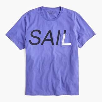 J.Crew Mercantile Broken-in T-shirt in sail graphic