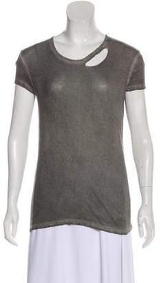 RtA Denim Distressed T-Shirt