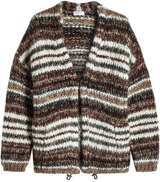 Brunello Cucinelli Mohair Cardigan with Wool
