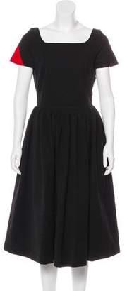 Preen by Thornton Bregazzi Pleated Midi Dress w/ Tags