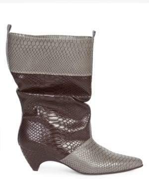 Stella McCartney Snake Print Slouchy Boots